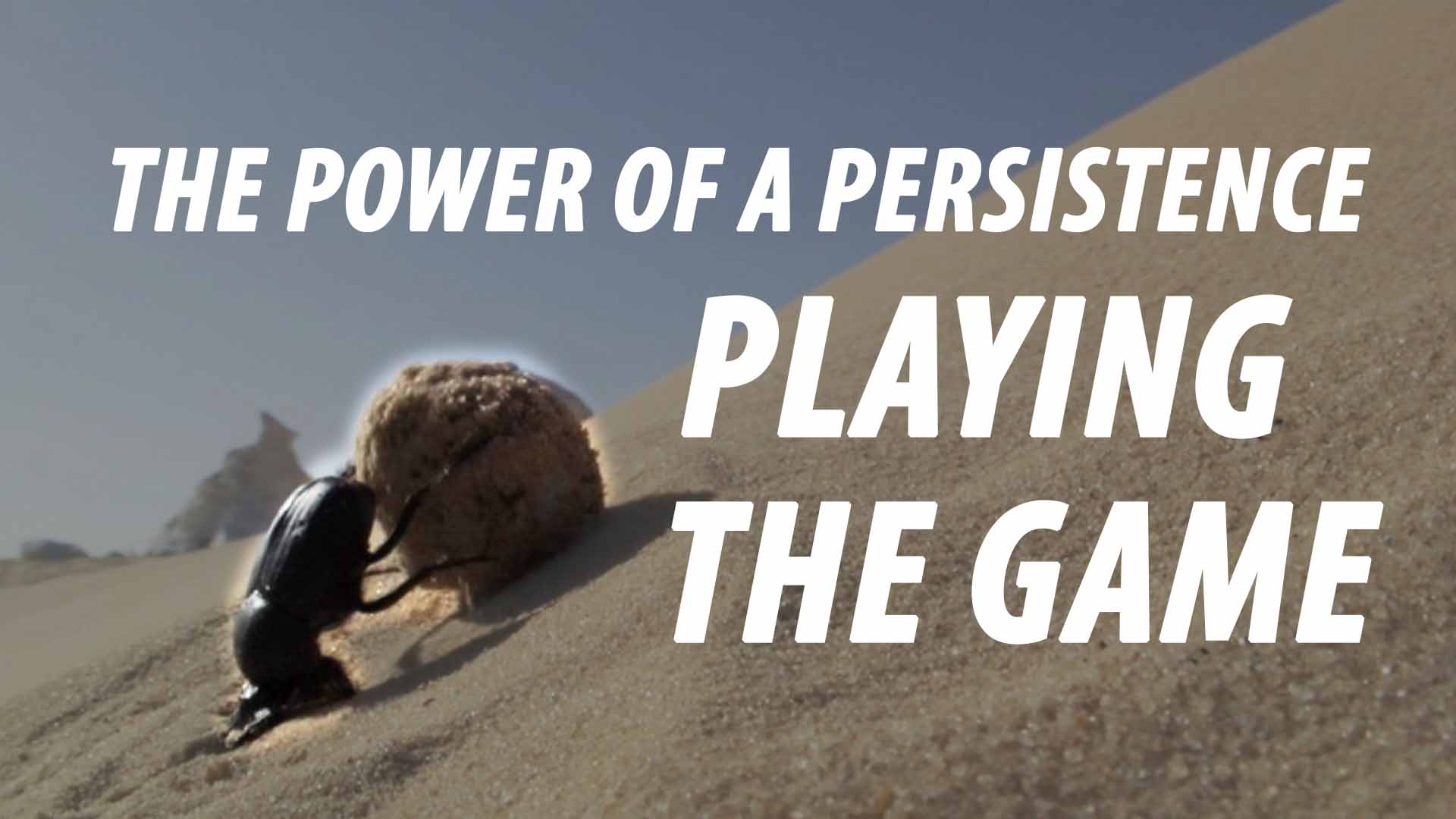 THE POWER OF A PERSISTENCE - PLAYING THE GAME